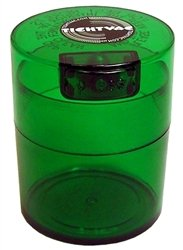 Tightvac Vitavac-Pocket Vacuum Sealed Pill Box and Vitamin Container, 3 Ounce / 0.29 Liter, Green Tint Cap / Green Tint Body with free BB sticker (Vacuum Stash Jar compare prices)