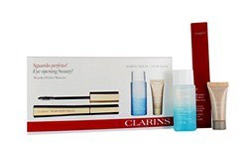 CLARINS Wonder Perfect MASCARA Set Regalo - GRANDEZZA NATURALE mascara nero 01, 30ml struccante & 15ml Istantaneo Correttore