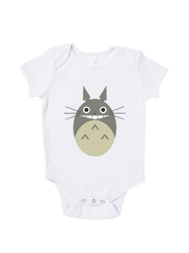 Blue Ivory My Neighbour Totoro Baby Grow Art Novelty Baby Shower Present front-1062925