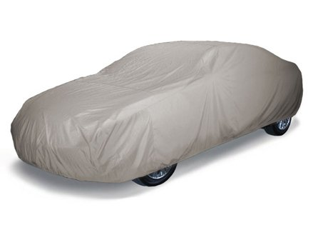 CoverMates Ultima - Semi Custom Fit Car Cover Premium Solution-Dyed 300D Polyester with Free Storage Bag! (Grey)