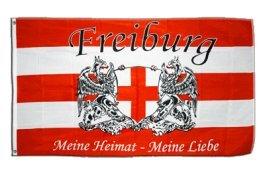 Flaggenfritze® Fanflagge Freiburg Meine Heimat - meine Liebe 90x150cm