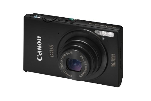 Canon IXUS 240 HS Digital Camera with Wi-Fi - Black (16.1 MP, 5x Optical Zoom) 3.2 inch LCD