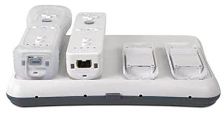 Wii Wireless Charging Power Base Quad