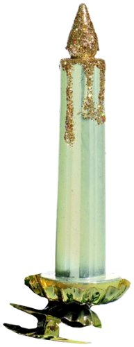 Barcana Old World Shatterproof 5-Inch Candle-Style Clip, Christmas Ornaments, Ivory Pearl, Set of 6