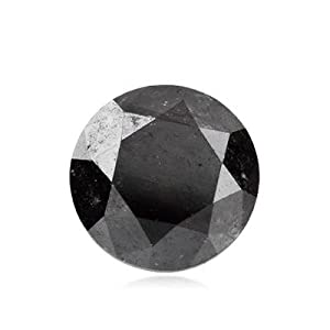 1.18 Cts of 6.03-6.06x4.64 mm GIA Certified AAA Round Brilliant ( 1 pc ) Loose Natural Fancy Black Diamond