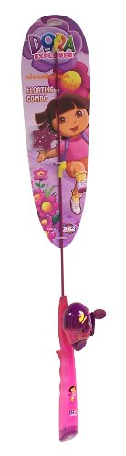 Zebco Dora the Explorer Floating Fishing Rod and Reel with Line