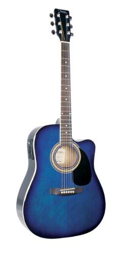 Johnson Jg-620-Cebl 620 Player Series Cutaway Acoustic Electric Guitar, Blueburst