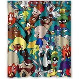 LEGENDT DIY NEW Shower Curtain New Promotion Looney Tunes Characters Custom Shower Curtain 60 Inch Wonderful
