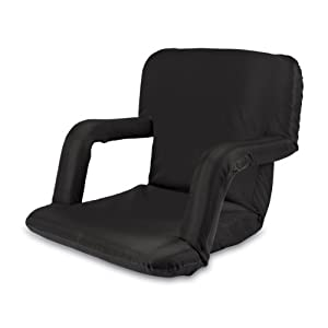Picnic Time Portable Ventura Reclining Seat (Black)