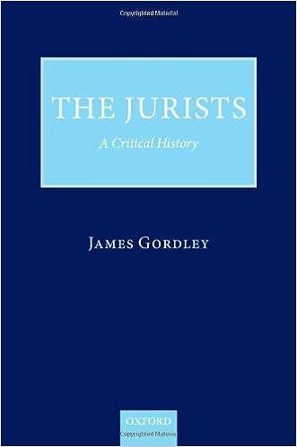 The Jurists: A Critical History