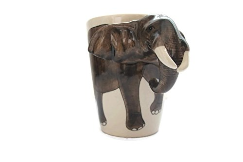 Elephant (03),Ceramic Mugs ,3D Hand-Painted,Novelty Cups/Mugs for Coffee/Milk, Ideal Choice for Gift Giving
