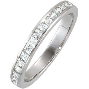 Platinum Accented Engagement Ring or Matching Band Size: 10
