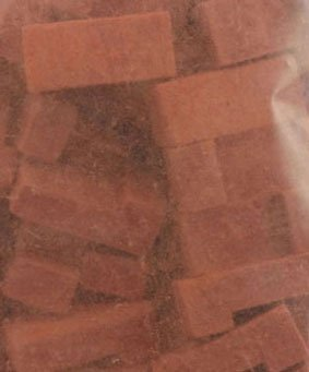 Dollhouse COMMON RED BRICK CORNER, 125 PCS by Superior Dollhouse Miniatures