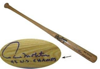 Signed Paul Molitor Baseball Bat - Rawlings Big Stick Blonde 93 WS Champs Milwaukee Brewers) - Autographed MLB Bats