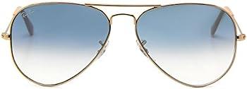 Ray-Ban Aviator 58mm Light Blue Lenses Sunglasses