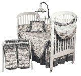 Hoohobbers 4-Piece Crib Bedding, Etoile Black - 1