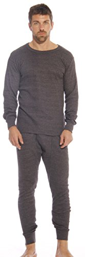95962-Charcoal-L At The Buzzer Thermal Underwear Set for Men (Thermal Pajama Men compare prices)