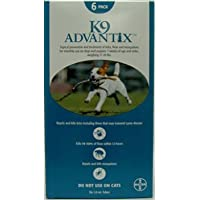 K9 Advantix Flea Control For Dogs, 11-20 lbs Teal, 6 Month