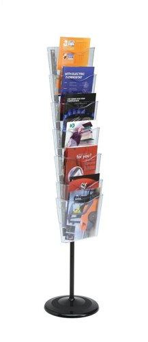 Literatura soporte de suelo unidad 7 x A4 bolsillos cristal Retrato