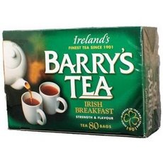 Barrys Irish Breakfast Original Blend Tea, 80 Tea Bags Per Pack -- 6 Packs Per Case.