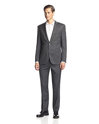 Kenneth Cole New York Men's Two Button Herringbone Suit