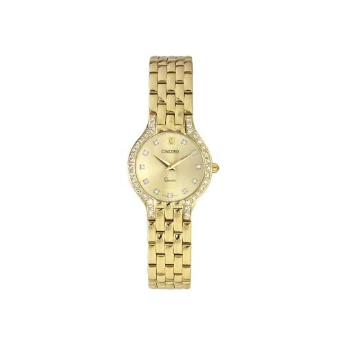 Concord Les Palais 14K Gold & Diamonds Ladies Watch   Champagne Dial & Diamond Markers