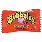 Bubbaloo Strawberry Flavour Bubble Gum - 60 Pack