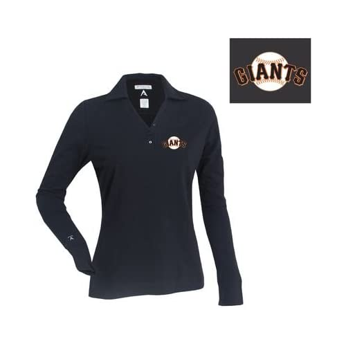 San Francisco Giants Womens Fortune Polo by Antigua   Black Small