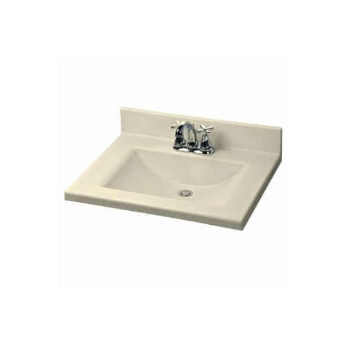 American Standard CMW3122.656 Silkstone 31-Inch Cultured Marble Vanity Top with Rectangular Bowl, Sand Granite
