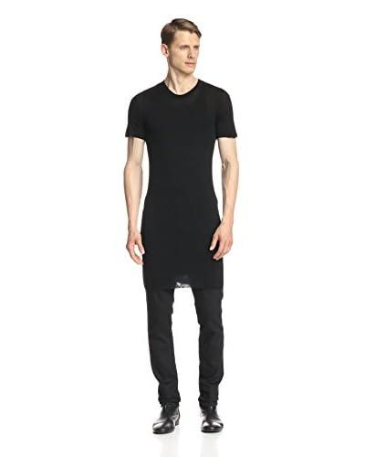 Rick Owens Men's Jersey Basic Short Sleeve Shirt