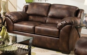 Loveseat In Nubuck Bonded Leather Polish by Acme Furniture