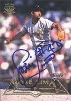 Jose Lima Houston Astros 1998 Pacific Autographed Hand Signed Trading Card. by Hall+of+Fame+Memorabilia