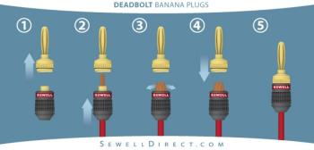 sony av receiver deadbolt banana plugs, 12 pair, by sewell 220 outlet wiring diagram banana plug wiring diagram #10