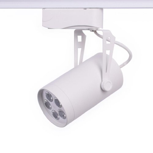 Eyourlife 5X2W Natural White Led Ceiling Track Rail Spot Light Bulb 600-720Lm 60 Degree Beam Angle White Outer Casing