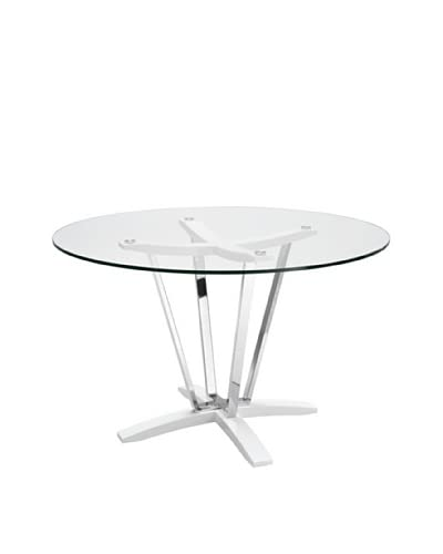 Casabianca Furniture Trevi Dining Table, White As You See