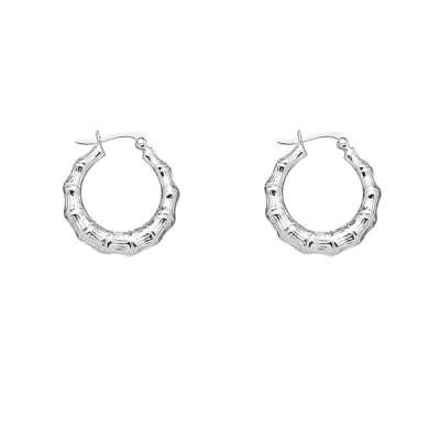 Fashionable Earrings Jewelry 925 Sterling Silver Medium size Designed with Circle Hoop(WoW !With Purchase Over $50 Receive A Marcrame Bracelet Free)