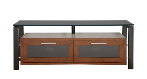 Plateau Decor 50 Wb Bg Wood And Glass Tv Stand, 50-Inch, Walnut Finish