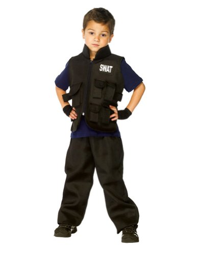 Swat Kids Costume Md 7-10 Kids Boys Costume