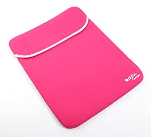 """DURAGADGET 15.6"""" Reversible Pink / Black Water Resistant Neoprene Laptop Case / Cover for Acer Aspire 5740M, Apple MacBook Pro (Summer 2012 Release), Maingear EX-L 15 & Samsung Series 9 NP900X4B-A02 15-Inch by DURAGADGET"""