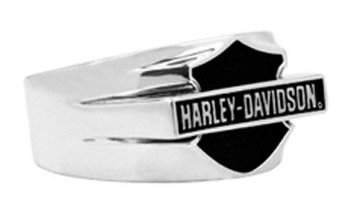 Harley-Davidson .925 Silver Oxidation H-D Bar Logo Signet Ring (9)