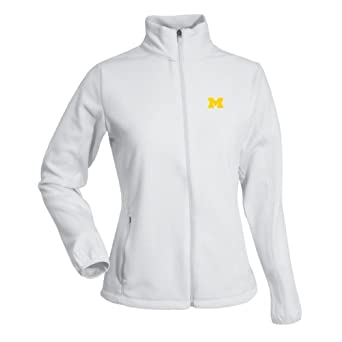 NCAA Ladies Michigan Wolverines Sleet Polar Fleece by Antigua