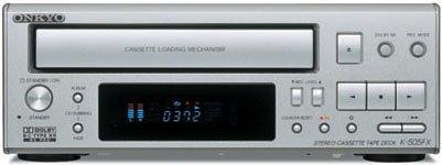 ONKYO INTEC205 カセットデッキ メタルテープ対応/ドルビーB/C HX PRO搭載 K-505FX(S) /シルバー