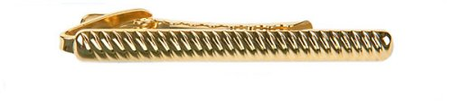Elegant gold plated tie bar with presentation box