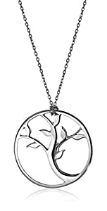 "Alex Woo ""Tree of Life"" Sterling Silver Small Pendant Necklace, 18"""