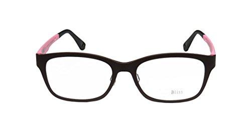 Bliss 3007 Mens/Womens Wayfarer Full-rim Eyeglasses/Spectacles (52-18-0, Brown / Pink) (Atlanta Braves Skin Suit Kids Costume)