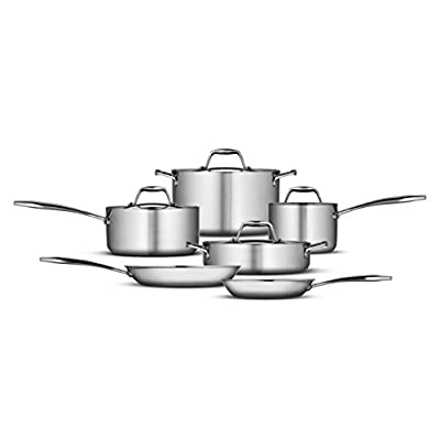 Tramontina 80116/004DS Gourmet 18/10 Stainless Steel Induction-Ready Tri-Ply Clad Fry Pan