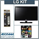 LG 32LK330 32 inch Class LCD HDTV, with Accessory Kit (2 HDMI Cables, 1 RGB ....