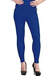 Suchi Fashion Blue Stretchable Cotton Lycra Jeggings