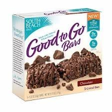 South Beach Diet Chocolate Good to Go Bars 5 Bars Per Box (4 Pack)