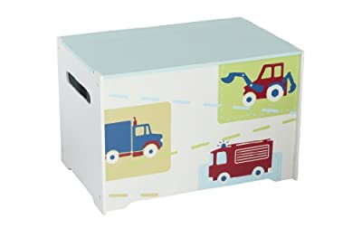 HelloHome Boys Vehicles Tidy Up Time Toy Box